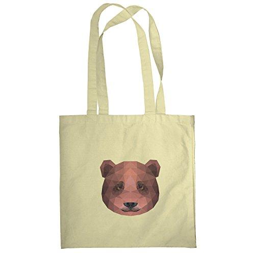 Texlab–Poligono bearface–sacchetto di stoffa Naturale