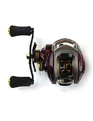 Carretes de lanzamiento 6.3:1 14 Rodamientos de bolas ZurdoPesca de Mar Pesca de baitcasting Pesca en hielo Pesca jigging Pesca de agua