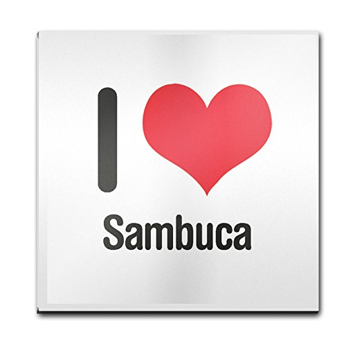 I love SAMBUCA Glas Untersetzer 2634