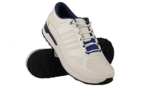 Zerimar Scarpe da Golf da Uomo | Scarpe Sportive da Uomo | Calzature Sportive per Il Golf | Scarpa Sportiva da Uomo in Pelle | Scarpe Sportive Golf | Colore Bianco Taglia 41