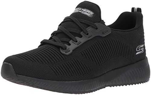 Skechers Damen Bobs Squad-Photo Frame Slip On Sneaker, Schwarz (Black 17), 40 EU - Sneaker Skechers Bob Frauen