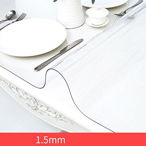 Tablecloth vbimlxft - Transparente PVC-Tischdecke-Starke Plastiktisch-Matte einfaches Abwischen Tischdecke (Farbe : 1.5mm, größe : 100x180cm)
