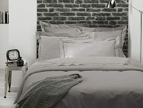 ELENA PARIS - Taie d'oreiller 65x65 cm - Grise
