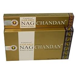 Golden Nag Chandan Räucherstäbchen Großpackung 12 x 15 g