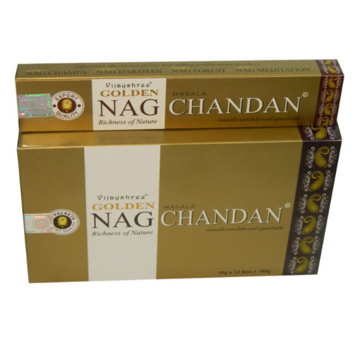 Golden Nag Chandan Räucherstäbchen Großpackung 12 x 15 g -