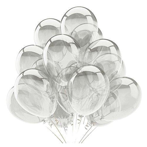 100 Stück Transparent Latexballon Dicke Große Runde Hochzeit Geburtstag Dekoration Ballons Geburtstag Engagement Festival Party Ballon (Engagement Party Ballons)