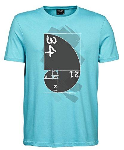 Herren T-Shirt Luxury Tee Fibonacci Aqua