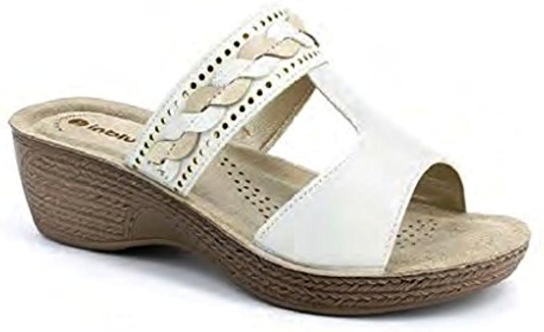 INBLU Damen Hausschuhe Weiß Bianco 40 EU