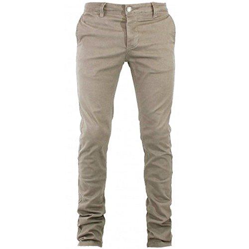 Pantalone Uomo Tasca America Cotone Chino Elastico Colori Vari Slim GIOSAL-Beige-54