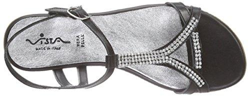 Vista 98400 Damen Sandalen Schwarz 90 schwarz Knöchelriemchen 6O6xSwZrBq