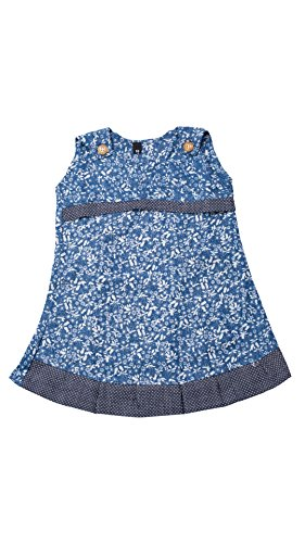 My Lil Princess Baby Girls Birthday Party wear Frock Dress_Blue Small Denim_2 - 3 Years  available at amazon for Rs.299