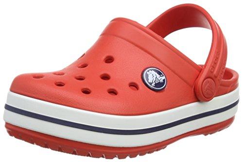 Crocs Crocband 10998 Unisex - Kinder Clogs & Pantoletten, Rot (Flame/White), 29/31 EU