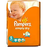Pampers Simply Dry couches Taille 5Grand étui de 41par lot de 1