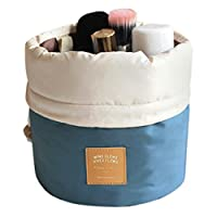 Cravog Travel Restroom Barrel Cosmetic Bag multi Makeup Bags