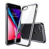 iPhone 8 Hülle, iPhone 7 Hülle, ESR Transparent Durchsichtig [Ultra Dünn] Klar Weiche TPU Schutzhülle [Kabelloses Aufladen Unterstützung] mit Farbrahmen für Apple iPhone 8/7 4.7 Zoll 2017 Freigegeben. (Metallisch Schwarz)