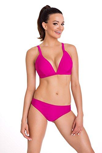 Primo© - 184 - Damen Bikini Set Badeanzug Batching Beachwear Bademode • S - XXL Größe • Neue Kollektion • Frühjahr Sommer 2017 (XXL, rosa) (Rosa Damen Kostüm Pinterest)