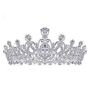 santfe Kristall Tiara Kronen Haar Schmuck Strass Hochzeit Festzug Braut Prinzessin Haarband