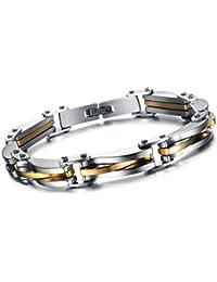 Oidea Bracciale Braccialetto per Uomo Braccialetto catena in acciaio inox oro argento