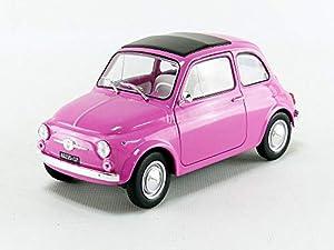 Solido Fiat 500 Previamente montado Modelo a Escala de Coche clásico 1:18 - Modelos de vehículos de Tierra (Previamente montado, Modelo a Escala de Coche clásico, 1:18, Fiat 500, 1 Pieza(s), Rosa)
