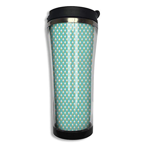 Vacuum Insulated Stainless Steel Tumbler 14oz Double Walls Ice Cream Party  Mint Green Water Bottle Coffee Mug for Office Travel Outdoor School Home