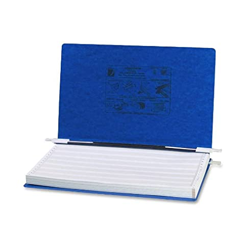 Pressboard Hanging Data Binder, 14-7/8 x 8-1/2 Unburst Sheets, Dark Blue