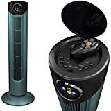 Futura 89cm Portable Electric Oscillating Tower Stand Cooling Fan, Remote, Timer, Digital Display, 3 Speeds