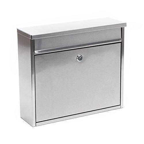 Preisvergleich Produktbild Briefkasten Postkasten Edelstahl Wandbriefkasten Mailbox Design V13