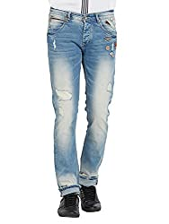 Spykar Mens Light Blue Skinny Fit Low Rise Jeans (Actif) (38)