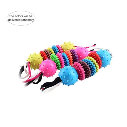 Petacc Biss-beständig Spielzeug | Kauspielzeug für Haustiere | Hund Haustier Chew Zahn Reinigung Haustier Spielzeug | geformtes Design und Bälle ,Zufällige Farbe - Große Biss