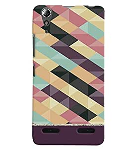 Citydreamz Zig Zag Lines\Pattern Hard Polycarbonate Designer Back Case Cover For Lenovo A6000