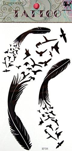 GRASHINE Goose toxique imperméable et non stckers et de tatouage feathertemporary