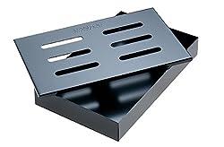 Santos Smokerbox Räucherbox Black Grillzubehör für Gasgrill, Kohlegrill und Kugelgrill | Maße 20,5 x 13,0 x 3,4 cm
