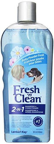 Fresh N Clean animal domestique 2 en 1 Flocons d'avoine et de Bicarbonate de soude Formule Shampooing Traitant