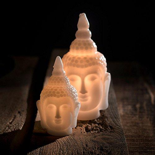 Pajoma LED de luz Buda, cera/plástico, altura 16,5cm 20494