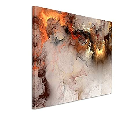 XXL Fotoleinwand 120x80cm Gemälde abstrakt modern chic chic dekorativ schön deko schön deko er Wolken mit Lichtdurchbruch auf Leinwand exklusives Wandbild moderne Fotografie für ihre Wand in vielen Größen
