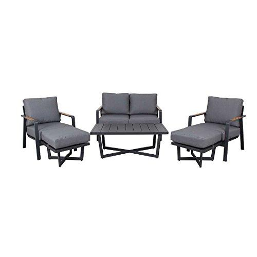 OUTLIV. Loungemöbel Outdoor Calw Loungegruppe 6tlg Aluminium/Polyester Gartenmöbel Design Gartenlounge modern wetterfest