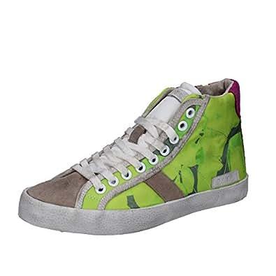 Bild nicht verfügbar. Keine Abbildung vorhanden für. Farbe: D.a.t.e. Date  Sneakers Damen 37 EU Grün Beige Textil Wildleder