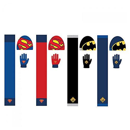 Set Mütze Handschuhe Schal Batman Superman Sortiment