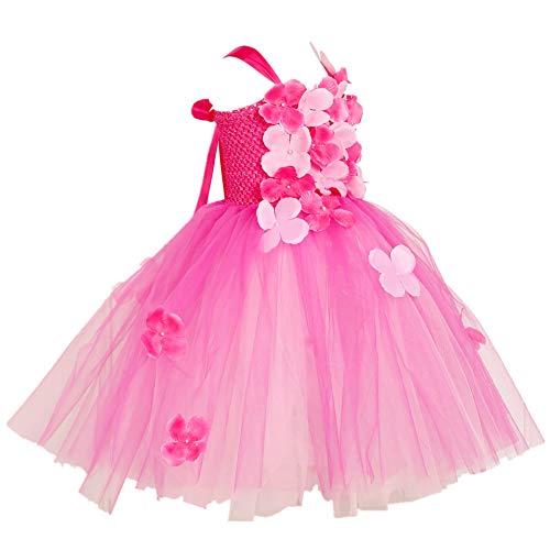 XEJ Mädchen Fasching Karneval Kleid Kinder Tüll Prinzessin Tutu Kleider