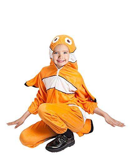 Fisch Kostüm, F124 Gr. 92-98, für Klein-Kinder und Kinder, Fisch-Kostüme Fische Kinder-Kostüme Fasching Karneval, Kinder-Karnevalskostüme, Kinder-Faschingskostüme, Geburtstags-Geschenk (Wasser Babys Kostüm)