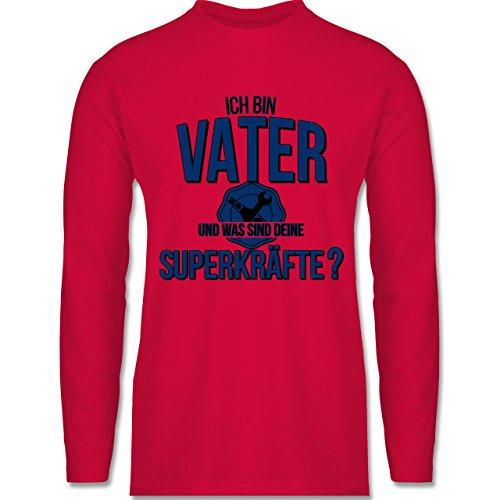Vatertag - Ich bin Vater - Was sind deine Superkräfte - Longsleeve / langärmeliges T-Shirt für Herren Rot