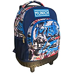 Munich Graffiti Maleta, 44 cm, 20 litros, Azul Marino
