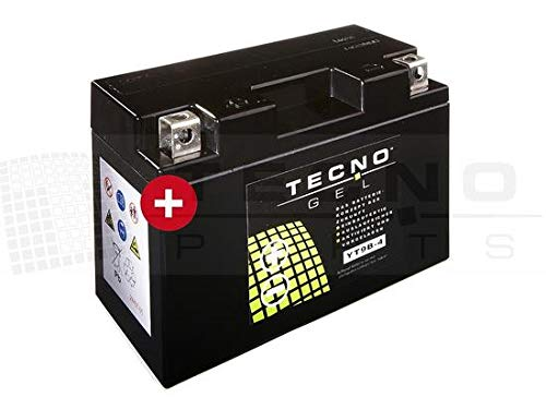 TECNO-GEL Motorrad-Batterie YT9B-4, 12V Gel-Batterie 8Ah, 150x70x105 mm