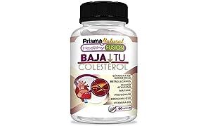 BAJA TU COLESTEROL – Reduce los Niveles de Colesterol LDL y Aumenta El Nivel HDL – Formula Completa – Levadura Arroz Rojo + Coenzima Q10 + Resveratrol + Mango Africano + Vitamina D - 60 cápsulas