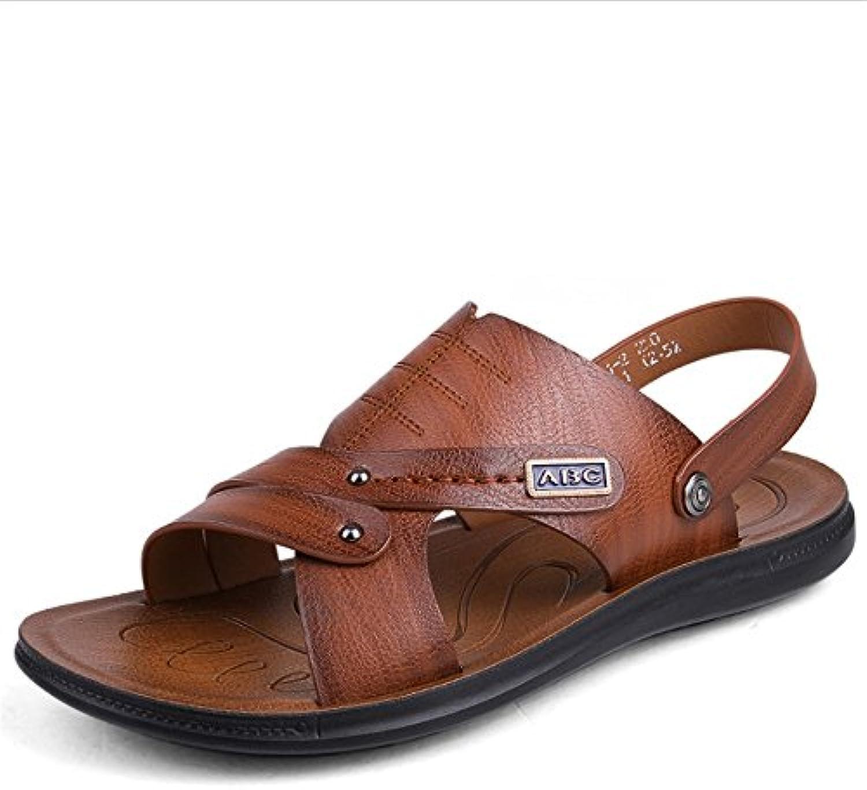 Sandalias Al Aire Libre De Los Hombres Casuales Zapatos De Playa Marrón Ligero Sandalias Respirables (24.0-27.0