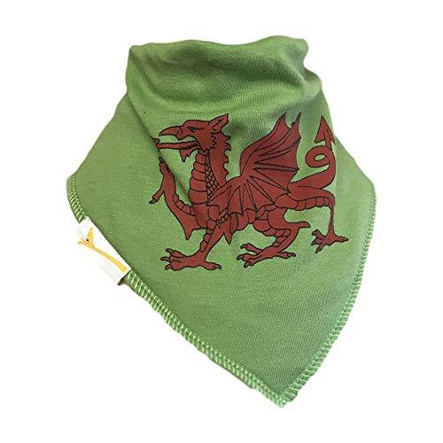 Green Welsh Dragon Bandana Bib -
