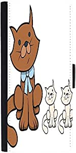Snoogg Cute Cartoon Cat With Kittens Vector Cartoon Illustration Graphic Snap...