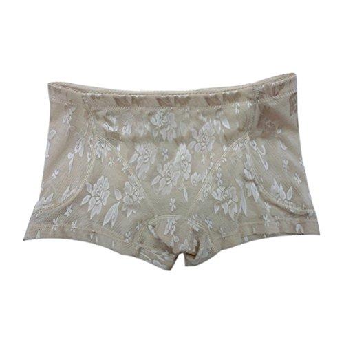 Zhhlaixing Frau Low Waist Breathable Seamless Lace Fake Ass Underwear Enhancer Shapewear
