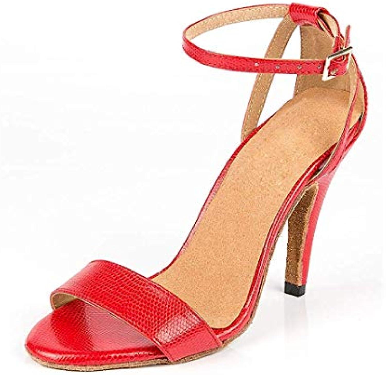 Qiusa Scarpe da Ballo da Donna con Cinturino alla alla alla Caviglia Sottile per Tango e Danza Latina (Coloreee   Rosso, Dimensione... | Arte Squisita  | Scolaro/Signora Scarpa  3d2d7d