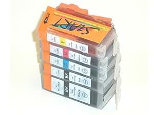 Start - 5 Cartouches d'encre compatibles avec Puce remplace PGI-5 / CLI-8, Noir, Cyan, Magenta, Jaune pour Canon Pixma iP3300, iP3500, iP4200, iP4300, iP4500, iP5200, iP5300, iX4000, iX5000, MP500, MP510, MP520, MP530, MP600, MP610, MP800, MP810, MP830, MP970, MX700, MX850